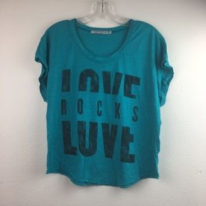 UO Truly Madly Deeply Love Rocks Tee